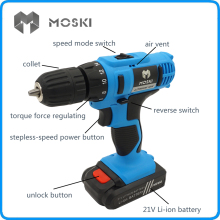 MOSKI , 2017 NEW 21V DC New Design Mobile Power Supply Lithium Battery Cordless <strong>Drill</strong>/Driver Power <strong>Drill</strong> Tools Electric <strong>Drill</strong>