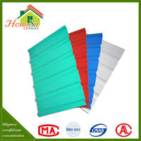Green house Plastic material one layer pvc roofing tiles/corrugated plastic upvc roof sheet/high