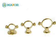Brass toilet hardware pipe saddle clamp