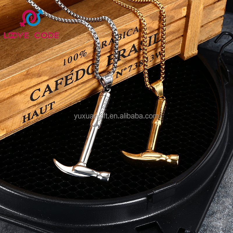 Fathers Day Jewelry Gift.Hammer Charm Pendant In Stainless Steel ,Papa You Are My Family #1,Thanks Dad Charm,Thank you.