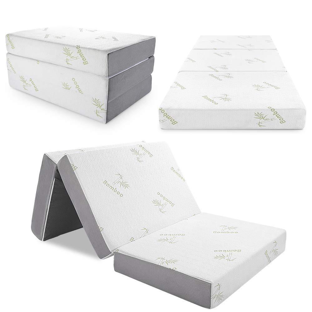 Tri folding bamboo mattress Best quality annd competitive price high density foam foldable mattress HD foam full size mattress - Jozy Mattress   Jozy.net