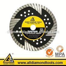 Turbo Hot Pressed Protection Teeth Blade for Cutting Granite