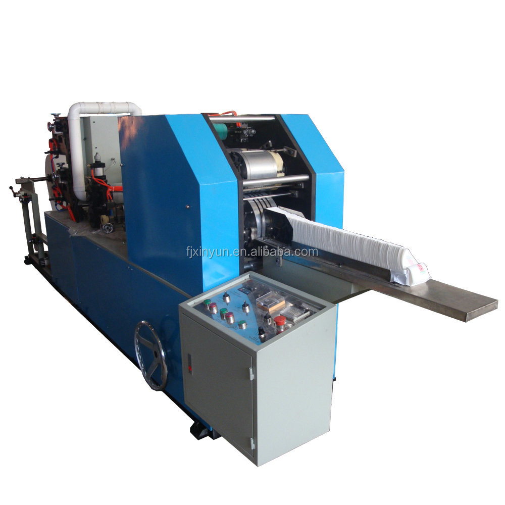 Full automatic embossing l folder napkin machine