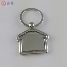 Wholesale Small House Shaped Rotatable Key Chain /Rotatable Keychain