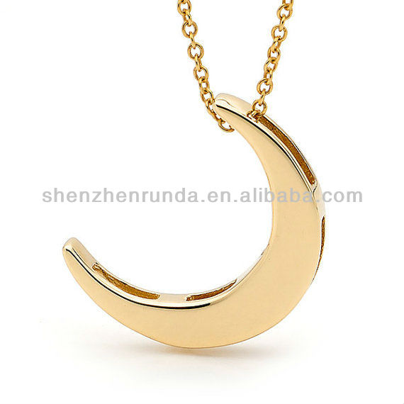 Silver Crescent Moon Necklace small silver crescent moon pendant