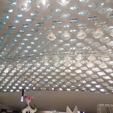 2.0mm perforated expanding mesh metal aluminum panel for airport ceiling
