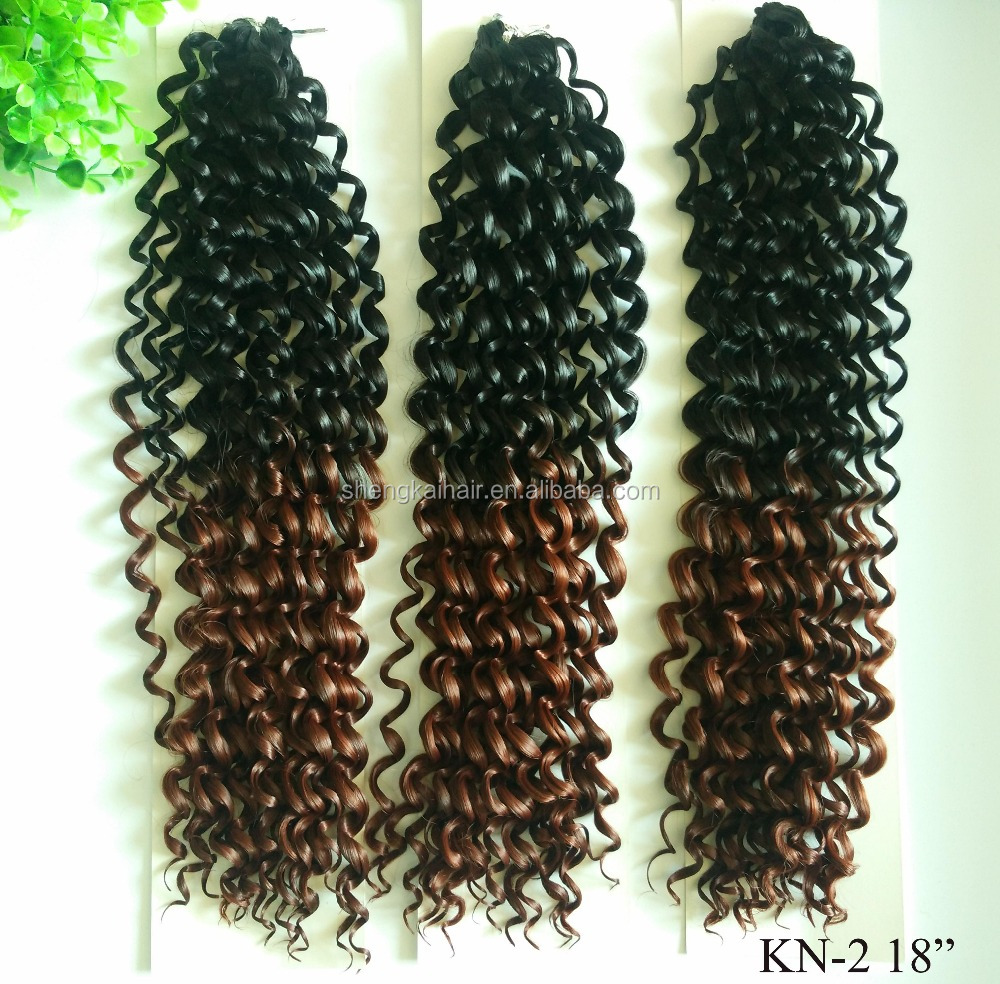 Good qualitysynthetic hair ombre color crotchet braiding hair
