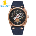 WJ-6492 Three Small Dial For Decorate Disu Complete Calendar Men Leather Watch