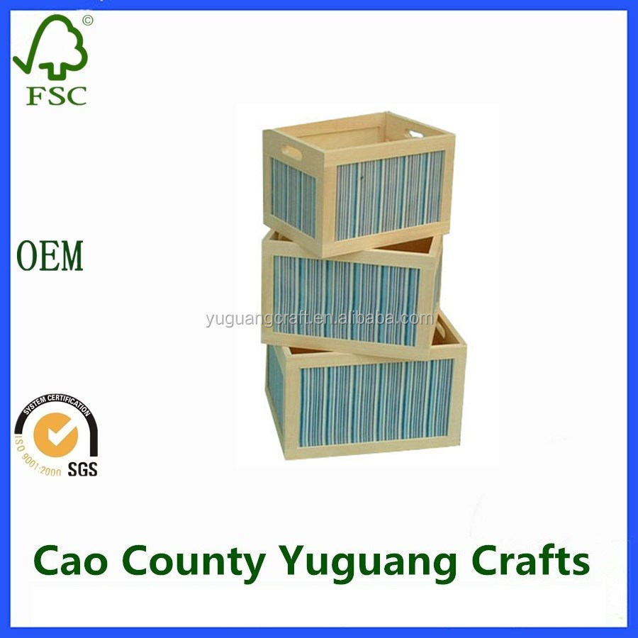 eco-friendly gift wooden storage crates for childrens toys