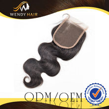 5A 100% Natural And Pure Hot Sale brazilian hair silk based lace closure