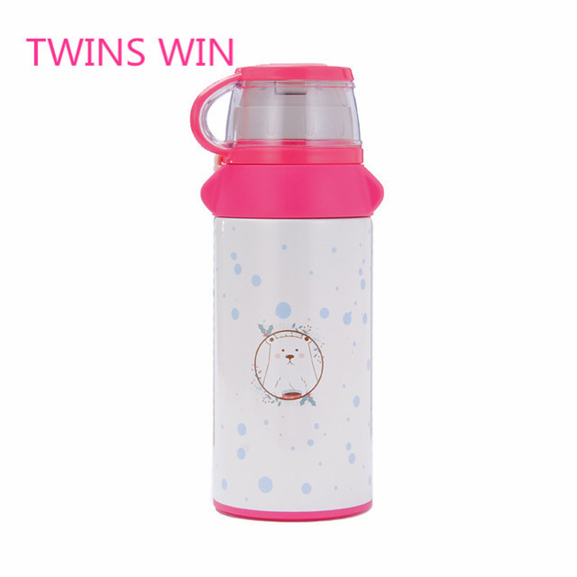 Factory price New product style Bpa free custom cartoon drinking 360ml single wall stainless steel water bottle insulated <strong>097</strong>