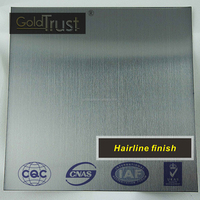201 304 316 430 color hairline/HL stainless steel for hotel decoration