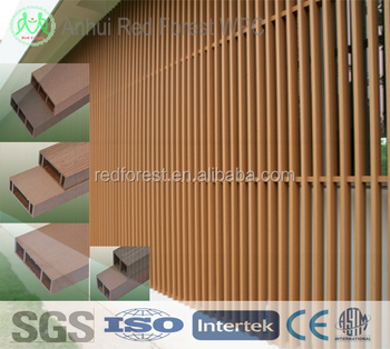 Decorative wpc cladding panel for exterior/ outdoor wpc wall panel