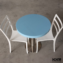 Modern new blue stone top dining round table and chair set
