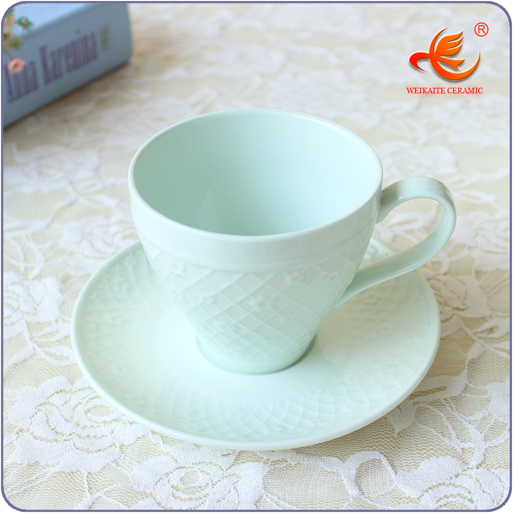 WKT008G China wholesale cheap bulk tea cups and saucers sets