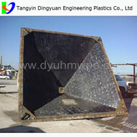 Best hot sales OEM ISO9001 UHMWPE bucket liner /bunker lining with high quality