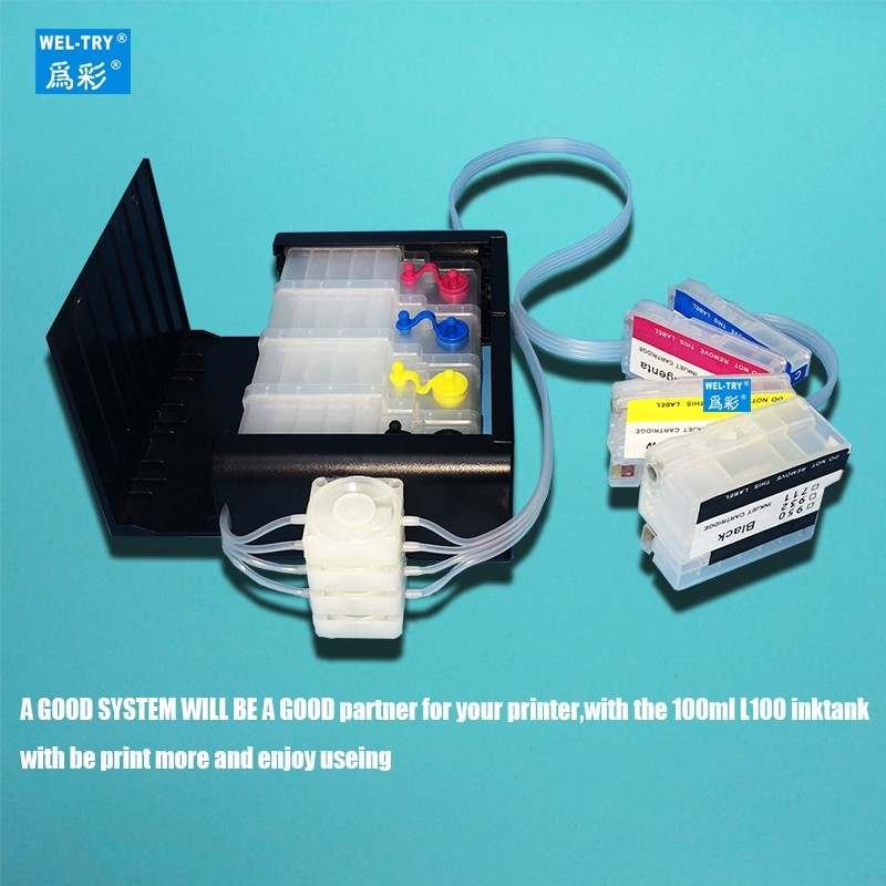 compatible for Officejet Pro 8100 8600 8610 8620 8630 8640 8660 8615 8625 251DWcontinuous ink supply system 950/951 CISS