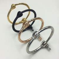4 Colors Plain Stainless Steel Jewelry Mian Material and Bracelets Bangle Type Screw Round Bangles
