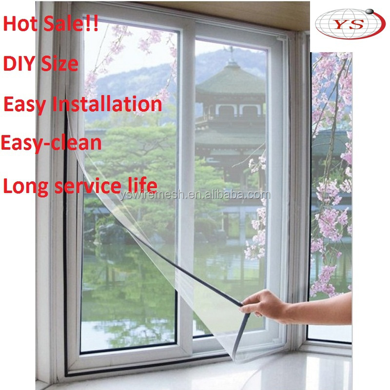 2015 new diy magnetic insect window screen aluminum for Screen new window