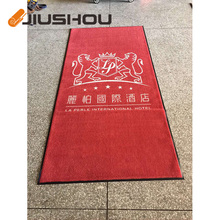 Office area printed mat with company logo
