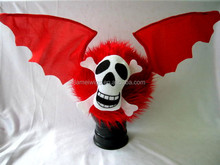 bat wings red color lint funny hat for halloween carnival and party