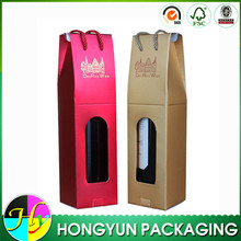 Customized dimension of carton wine box, wine packaging box