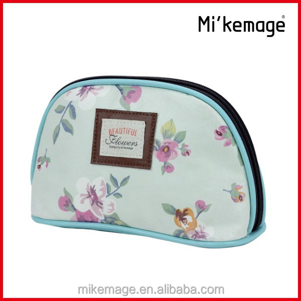 Personalized clear travel cosmetic bag
