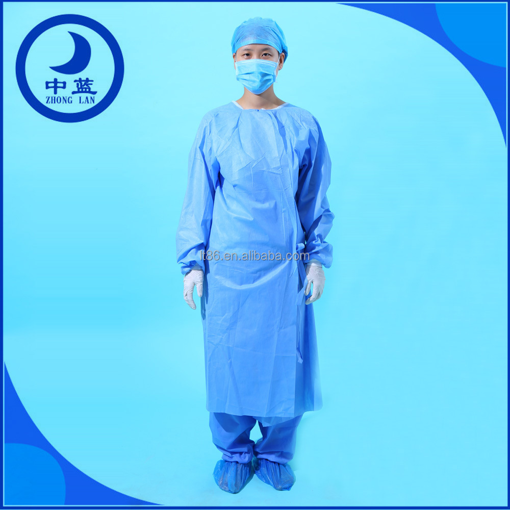 OEM Non-woven/PP/SMS Medical Disposable Sterile Surgical Long Gowns