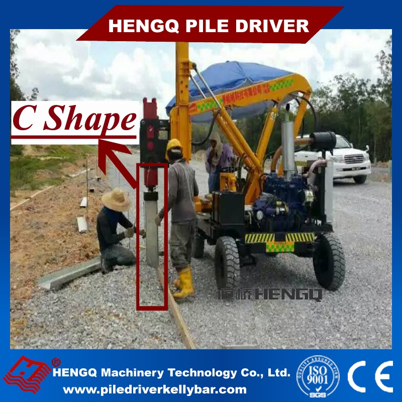 Sheet Pile Driver Hydraulic Ramming Machine for Sale