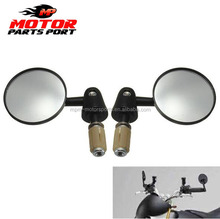 Universal Aluminum Round Bar End Motorcycle Side Rear View Mirrors for Crusier Chopper ATV