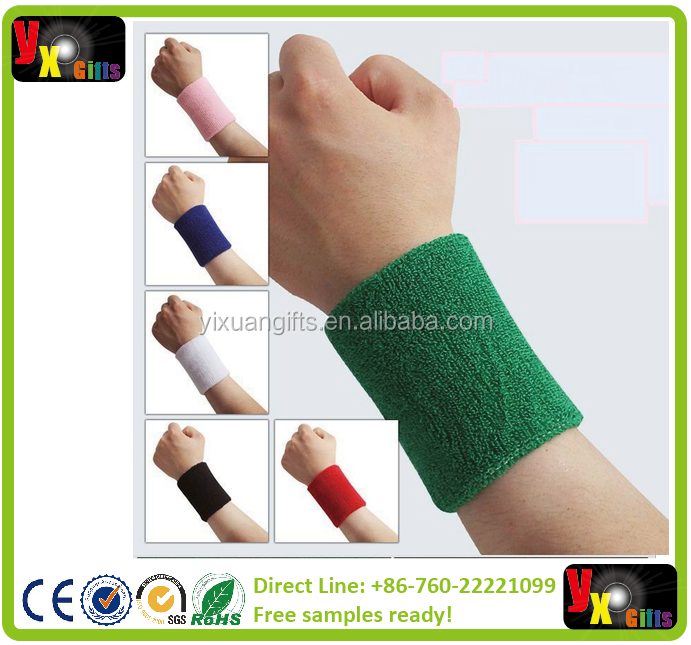 15*7.5 terry cloth wristbands sport sweatband hand band for gym badminton polsini tennis sweat wrist support brace wraps guards