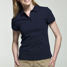 Alibaba New Fashion Woman Sport Wear Low MOQ Cheap Custom Polo T-shirt