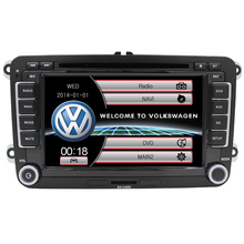 2 din car dvd radio for V olkswagen car dvd player v w passat b6 polo golf 5 v w golf 4 touran t5 caddy sharan with GPS USB RDS