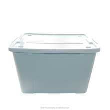 58L plastic storage bins with handles and wheels rectangular clear plastic box polypropelene box pool toy storage bin