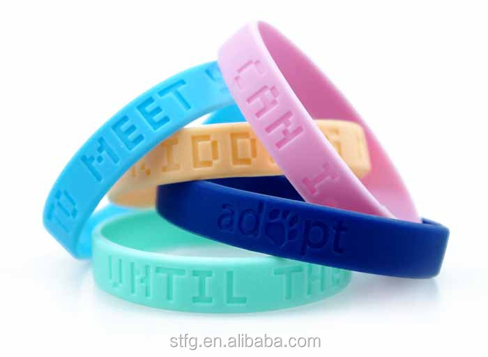 Factory wholesale customized colorful Silicon armband for sale,cheap Promotional rubber Wrist Band