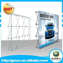 advertising trade show booth aluminum pop up displays exhibition fabric backdrop media wall stands price