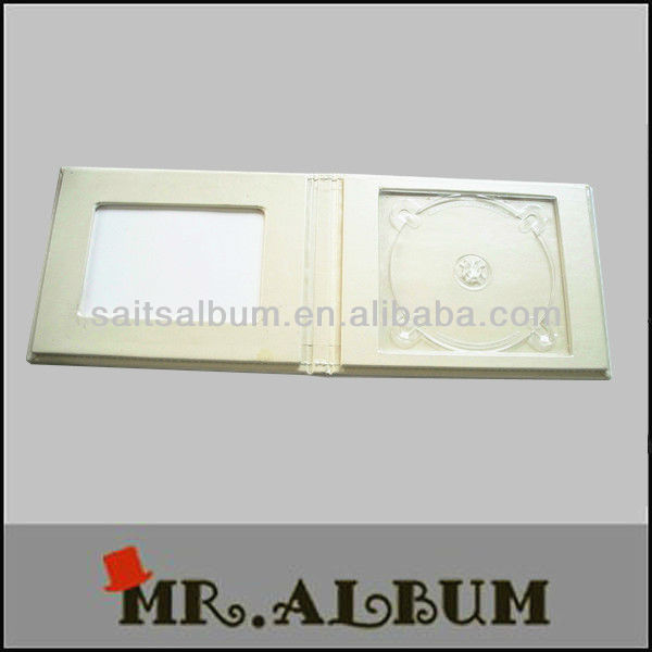 buy white color leather single cd case with one window on the cover