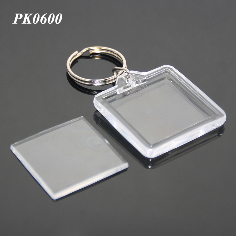 Wholesale Plastic Keyring Acrylic Photo Key Fob With Picture Frame <strong>Metal</strong> And Acrylic Square Keyring Plastic Keyholder