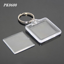 Wholesale Plastic Keyring Acrylic Photo Key Fob With Picture Frame Metal And Acrylic Square Keyring Plastic Keyholder