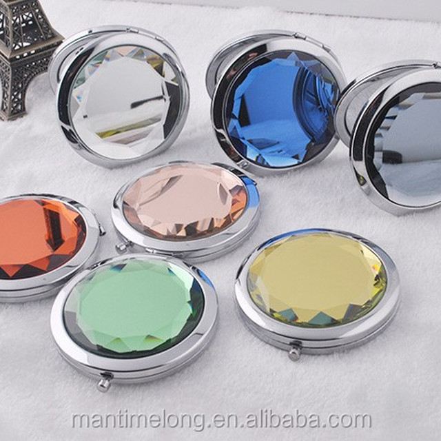 High-grade metal cosmetic makeup mirror double sided folding portable
