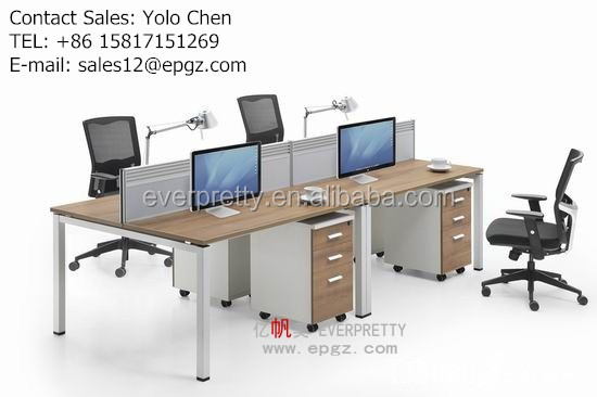 2016 HOT SALE factory price staff computer desk 4 seat office workstations