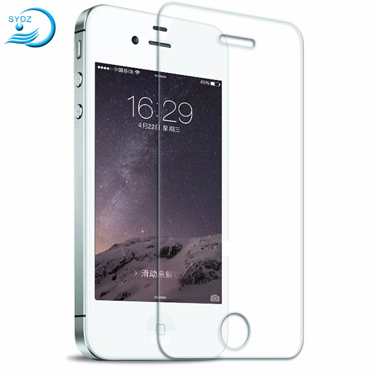 Durable Nano 9H 2.5D Tempered Glass Screen Protector For Iphone 4S