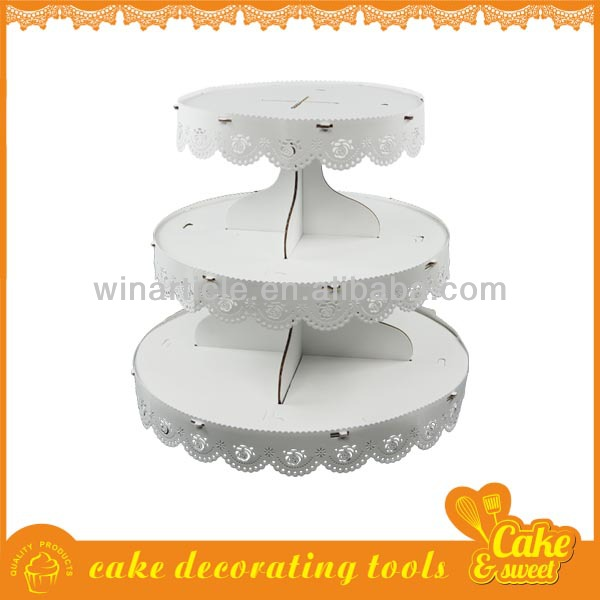 Paper wedding acrylic cake stand cupcake holder