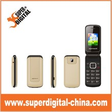 cheapest 1.8inch colorful flip folding gsm phone from Superdigital in China
