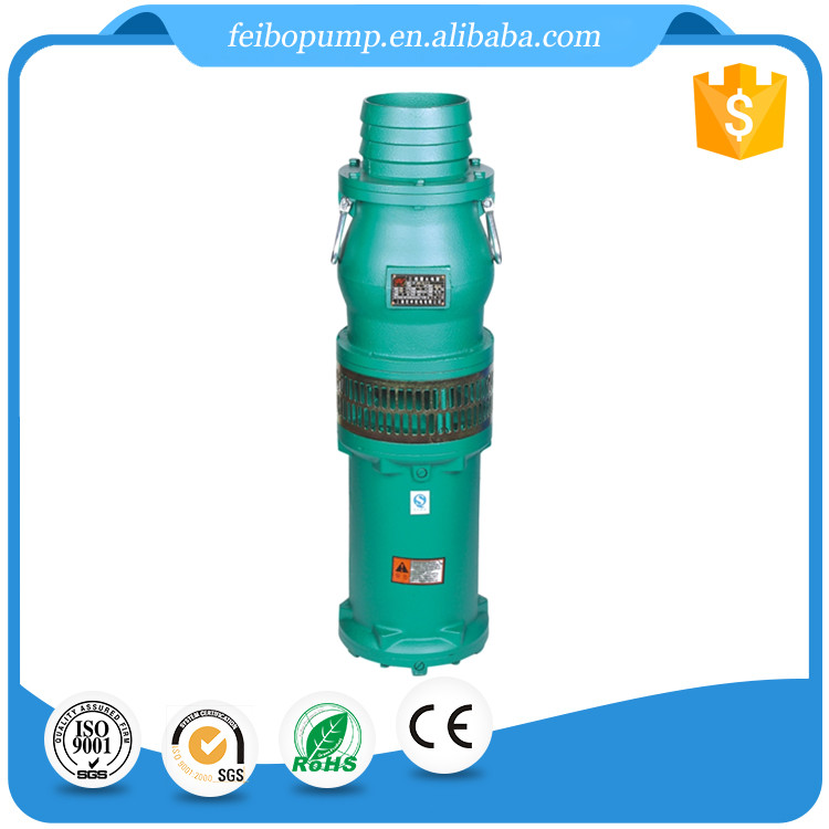 QY Electric Power 4 5.5 7.5 KW Oil Filling Submersible Pump with 100% Cooper Wire For Water
