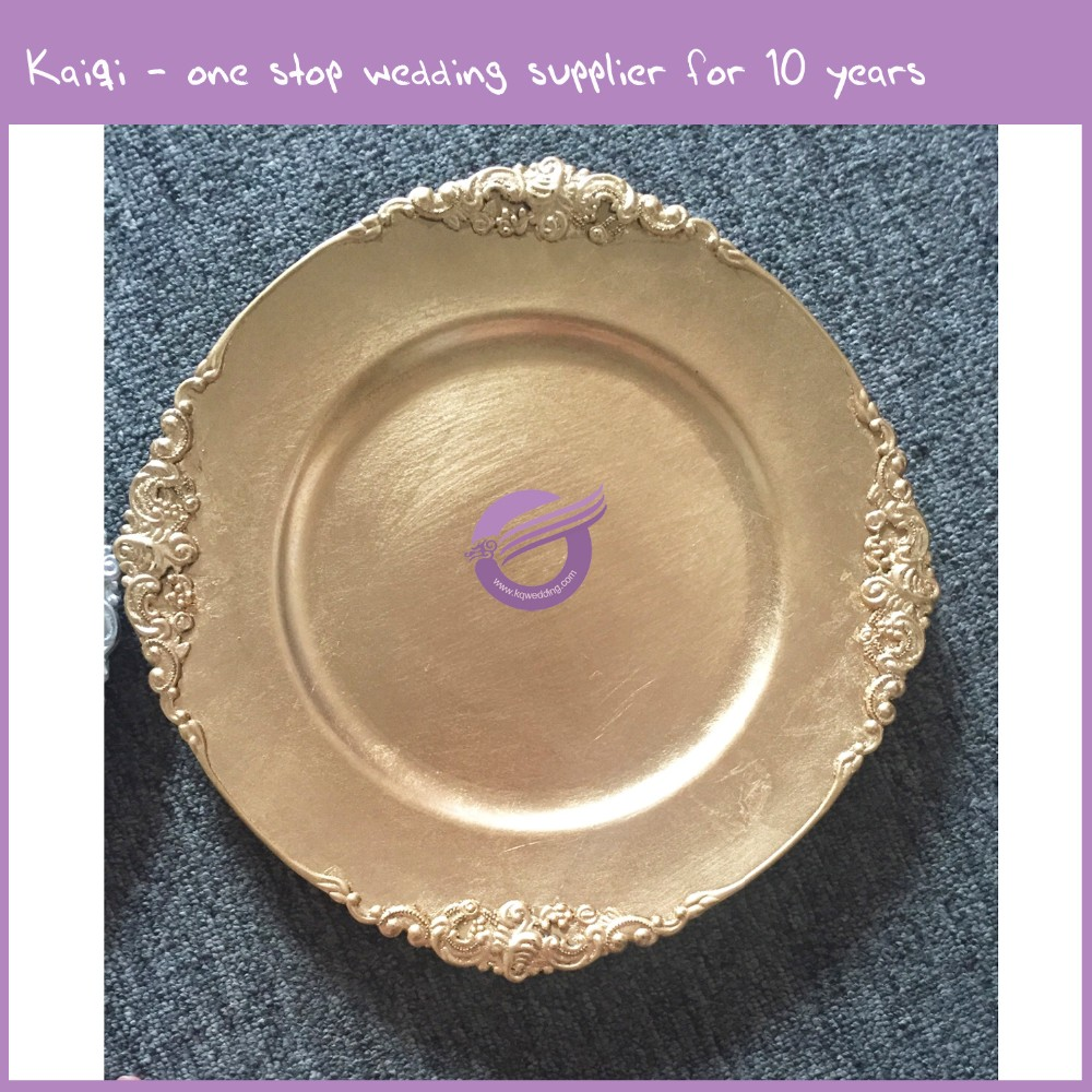PZ21080 wedding restaurant China gold charger plate