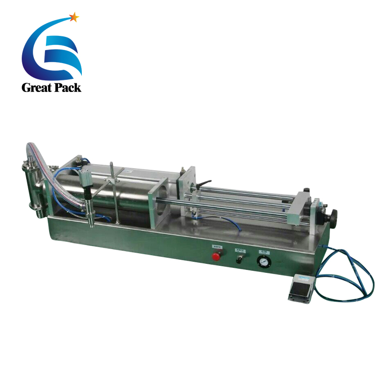 Pneumatic cylinder operated semi auto filling machine