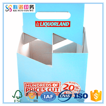 customized recyclable take away wine packaging cardboard 6 pack bottle beer carriers