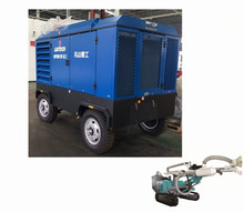 New 17 21Bar Portable Movable Air Compressors For Well Mine Drilling Rigs
