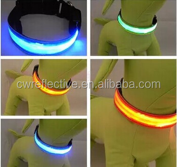Light Up Dog Collar/ Reflective Dog Collar/ Reflective Dog Leash